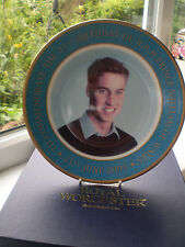Royal Worcester Prince William 21st Birthday Plate Boxed Limited Edition