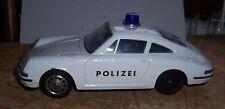 """Polizei Porsche 912S  """"Blech Modelle""""  Batterie """"Blaulicht und anfahr Dreher"""" OK"""