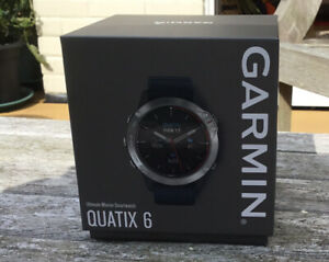 Garmin Quatix 6 Smart Watch, Multi sport GPS, Marine Blue silicon strap