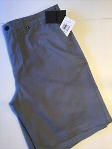 """Hurley Men's Size 32 OAO Shorts 20"""" Gray MWS0006340 06B One & Only"""
