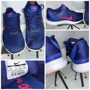 Nike Flex RN 2018 Sz 15 Men Blue Running Shoes Very Minor Wear YGI H0S-179