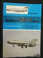 Warpaint 91 - Mikoyan-Gurevich MiG-21 'Fishbed' - Color Profiles, Line Drawings