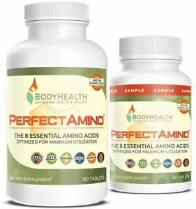 BodyHealth PerfectAmino Tablets (150ct plus 30ct sample), All 8 Essential Amino
