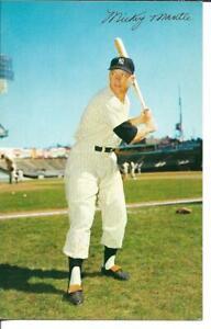 Mickey Mantle, Dormand postcard, New York Yankee Hall of Fame, ID# 23645, unused