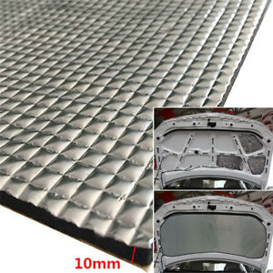 10mm Car Hood Heat Foil Shield Sound Deadener Foam 1.4x1m Self-adhesive Mat 1x