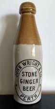 JOHN WRIGHT & CO. - PERTH - SCOTTISH STONE GINGER BEER BOTTLE