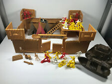 Vintage 70s 80s Tim Mee Toys Timmee Pirate Fortress w/ Box marx playset action