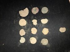 Wooden Chest  with 12 Ancient Uncleaned Roman Coins Plus free practice shard
