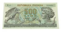 1966 Italy 500 Lire Note (XF, Extra Fine) P# 93a