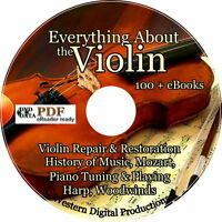 DVD How to Make Fix Repair Restore Violins Piano Bows Instruction Music Books