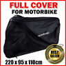 Large Waterproof Motorcycle Bike Cover Scooter Outdoor UV Rain Protector Black