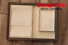 Rolex Crown Suede Beige New Version 3 Piece Presentation Watch Tray Pad 14.5x11""