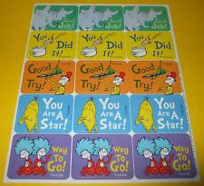 15 Dr. SEUSS The Paper Magic Group Stickers~School Reading Reward Teacher Sheet