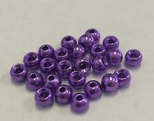 """Tungsten Fly Tying Beads Anodized Purple 1.5 Mm 1/16"""" 100 Ct"""