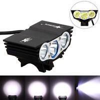 3x XM-L U2 LED bicicleta luz delantera ciclismo faro 6400mAH batería recargable