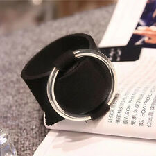 Black Velvet Pendant Bracelet Silver Pendant Bangle Women Gothic Party Jewelry