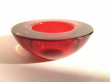 Red Glass Tea Light Candle Holder IKEA Gift Home Decoration Oval