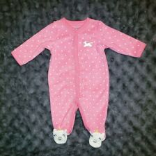 Nwot Carters Baby Girl Clothes 3 Months One Piece Terry Unicorn Pajama Sleeper