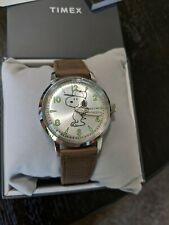 Timex Snoopy Welton Silver Dial Brown Leather TW2R94900 Watch