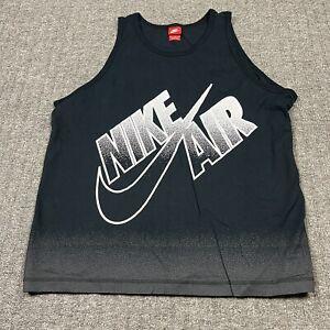 Nike Mens Tank Top Size XXL Black Big Logo Splatter EUC