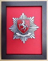 Large Scale Framed KENT FIRE & RESCUE SERVICE Badge Plaque Model