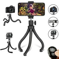 Flexible Cell Phone & Camera Mounting Tripod Stand Holder with Wireless Remote