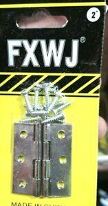 """4 x 2"""" FXWJ Door Butt Hinges Chrome Plated Steel Door/Cabinet Hardware 4pcs UK"""
