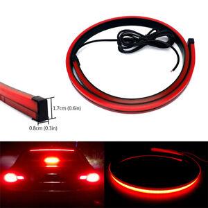 100cm 12V Red LED Car Auto Third Brake Light Flexible Stop Lamp Strip Waterproof