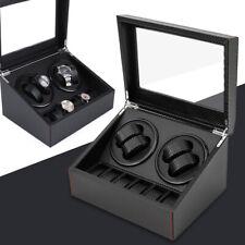 Rotation Leather Watch Winder Storage Box Carbon Fiber Watch Box 4+6 Automatic