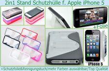 Rundum Hard Case Cover Apple iPhone 5 5S Handy Bumper Schutz hülle + Folie klar