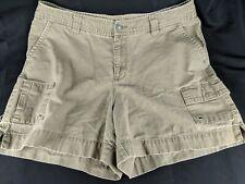 "St. Johns Bay Women's Size 14 Olive Green Cargo Bermuda Shorts W34"""
