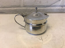 Antique English Sterling Silver Condiment Mustard Pot / Jar