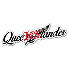 Queenslander New Zealand Fern Sticker NZ Kiwi Car Fern Decal