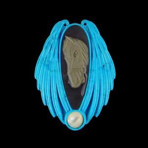 Carved Lapis lazuli Ribbon Jasper Bead GG897000