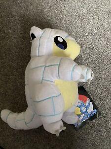 Pokemon Alolan Ice Sandshrew 8 Inch Pokemon Center 2016 Plush Soft Toy NEW TAGS