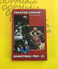 1982 - 83 University Of Houston COUGARS BASKETBALL MEDIA GUIDE Hakeem Olajuwon