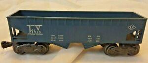 Marx LV 21913 Double Hopper Railroad Car Blue Post War O scale repaired train
