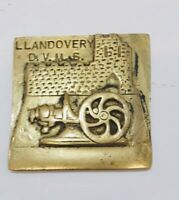 Vintage Brass Plaque LLandovery D.V.M.S Decorative Collectable