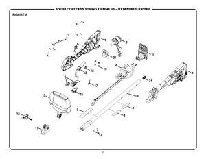 ⭐️Ryobi One+ 18v Cordless String Trimmer Lock-Off Trigger 532076005⭐️