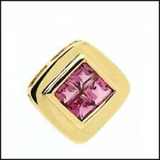 Elegant 9ct Yellow Gold Pink Tourmaline Gemstone Pendant