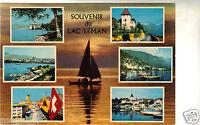Suisse - cpsm - Souvenir du lac Léman