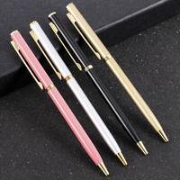 Luxury Full Metal 1mm Ballpoint Pen Black Ink Gel Pen Office Writing Stationery