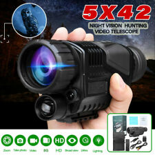 5x40 Infrared Ir Night Vision Hunting Monocular Telescope Digital Video