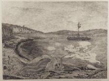 """Gravure sur bois de H. LESPINASSE,  """"Sicile"""" signée au crayon, 1/15."""
