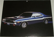 1970 Dodge Challenger RT 2 dr ht car print (purple & white)