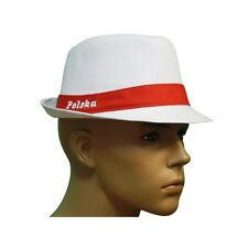 NEW UNISEX WHITE HAT PANAMA TRILBY STYLE MENS WOMENS, KAPELUSZ POLSKA POLSKI