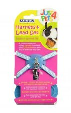 Ancol Rabbit Harness Guiness Pig Harness Set with Lead Blue or Pink