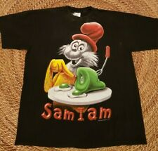 Vintage 90's Dr. Seuss Sam I Am Green Eggs And Ham T-Shirt Mens Size X-Large