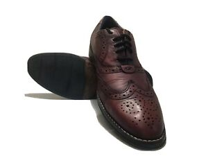 Mens Hush Puppies Style Brogue Dress Shoes Smooth Leather Size 7.5