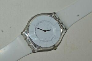 Swatch SKIN Watch SFK360 WHITE CLASSINESS 2011 Unisex Swiss Quartz Plastic